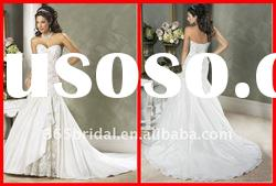 2012 Luxury Mermaid Sweetheart Applique Taffeta Bridal Wedding dress