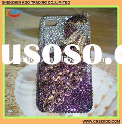 2012 Newest design For iPhone 4G 3D design crystal case