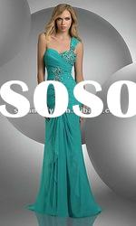 2012 Style Spark Beading Sleeveless Floor-length modest Prom Dresses / Evening Dresses