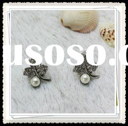2012 new arrival pearl stainless steel jewelry earring