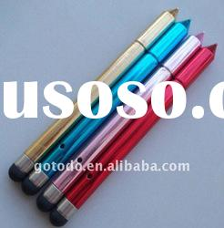 2 in 1 combo,capacitive stylus touch pen for any touch screen