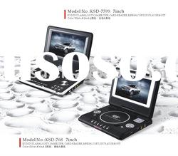 7'' KSD-7599 hot-selling mini portable DVD player
