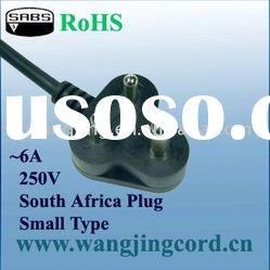Africa SABS Standard power supply cord with plug(SMALL)