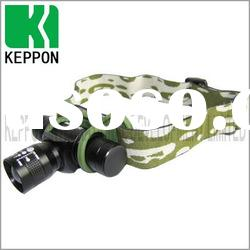 Aluminum Rechargeable CREE LED Headlamp with Zooming Lens