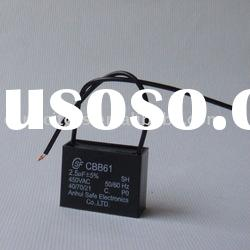 Best price CBB61 wire ceiling fan capacitor 1.2UF