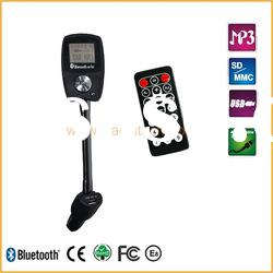 Best price high quality popular A2DP handsfree bluetooth car fm transmitter with TTS and LCD
