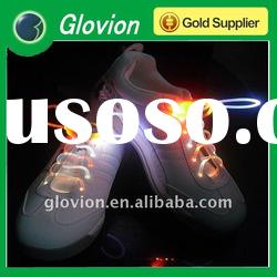 Best selling christmas items 6V led shoelace glow in the dark shoelaces