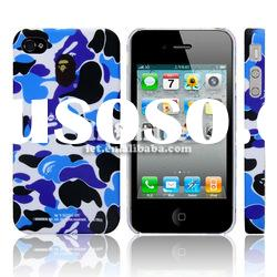 Blue Camouflage Case for iPhone 4