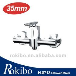 Brass single lever wall shower mixer taps