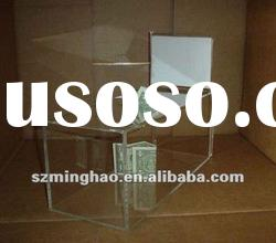 Clear Acrylic Ballot/Donation Case with Sign Holder
