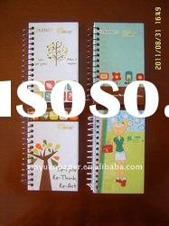 Designer spiral notebook with colored paper