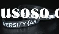 Engraved color filled Silicone Wristband, very Cheap Price