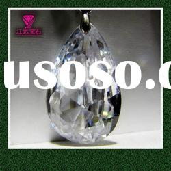 Faceted Cut White Stone Cubic Zirconia Pear Shape Gemstone