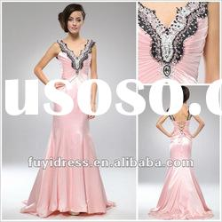 Feminine Pink Long A-line Ruffle Evening Dress