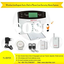GSM+PSTN Wireless home alarm system with keypad input(YL-007ZX)