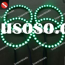 Green universal-fit 12V car led angel eyes halo rings