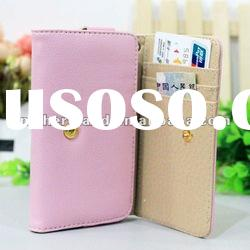 High Quality Mobile Phone Wallet Style Leather Case for Samsung Galaxy S2 i9100