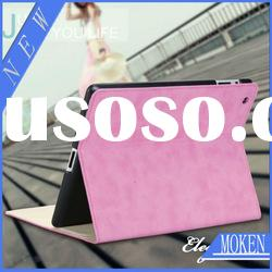 Hot!360 Rotation PU Cover Skin for New iPad