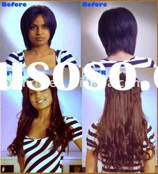 Hot selling 20 inch natural wave 1b# full lace wig in stock
