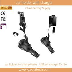 LED display reliable quality usb car mount with charger works in all cars+easy to use