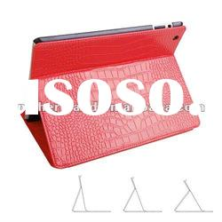 Luxury Crocodile Skin Real Genuine Leather Case for ipad 2,paypal accept