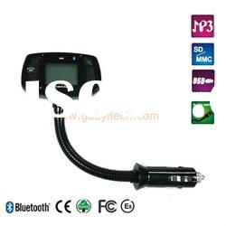 New 1.5 LCD display bluetooth hands free car kit with RDS