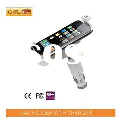 Newest high quality 2 in 1 smart phone car holder+ car cellphone holder for mobile phone