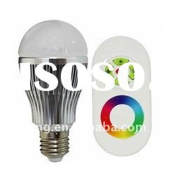 RGB Dimmable LED bulb with Touching Colors Remote control