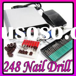 SET OF FULL ELECTRIC NAIL ART DRILL+NAIL BITS+SANDING BANDS