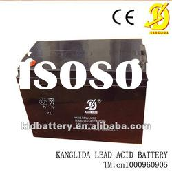 Sealed lead-acid rechargeable battery 12v100ah for solar system