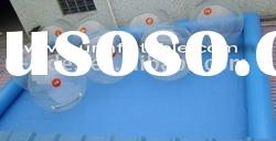 Single tube inflatable swimming pool blue color pool
