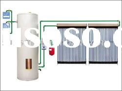 Split Pressure Solar Heating With Evacuated Tube Solar Collector