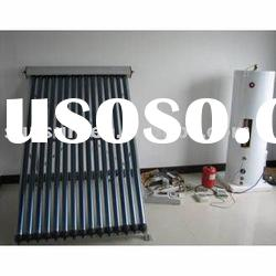 Split Pressurized Solar Heating With Evacuated Tube Solar Collector