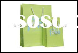 String handle paper shopping bags