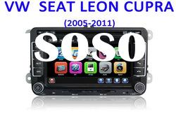 Top selling car dvd player for VW seat Leon Cupra with gps radio bluetooth ipod TV