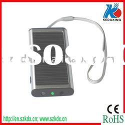 USB solar travel charger for mobile phone with LED flashlight