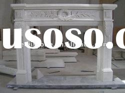 White marble fireplace mantel for home decoration