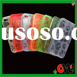 Wholesale price:high quality TPU material phone case for iphone 4g case--bear's paw