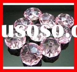 #5040 Crystal Rondelle Faceted briolette Beads Pink Rosaline Color Fashion Dress Accessories