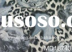 artificial leather for garment with leopard design in wenzhou