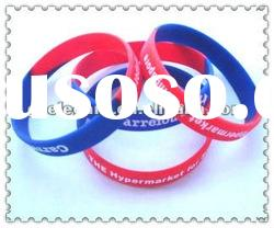beautiful mixed color silicone bracelets for promotion