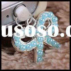 bowknot with diamond designs for phone earphone jack dust plug jewelry