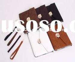briefcase design Leather Case for iPad 3/ipad 2