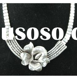 fashion antique silver flower alloy necklace