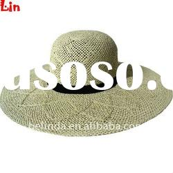 fashion beige ladies wide brim straw beach sun hat