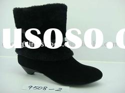 fashion fur ladies ankle boots