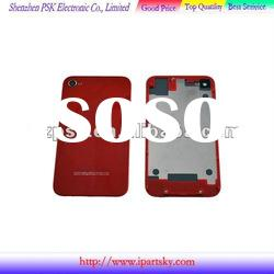 high quality for iphone 4 color back housing red color
