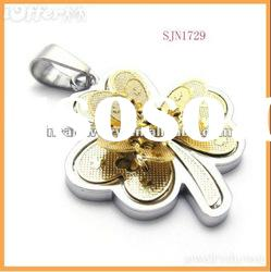 hot sale gold plated stainless steel pendant jewelry