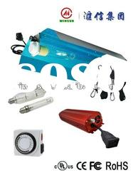 hydroponic 250 Watt Grow Light System WING REFLECTOR HOOD Electronic Ballast Kit