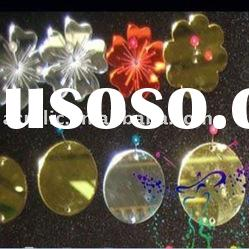 plastic&acrylic laser cutting hanging christmas decoration/sticker